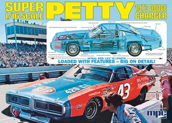 Richard Petty 1/16 scale 1973 Dodge Charger plastic model kit
