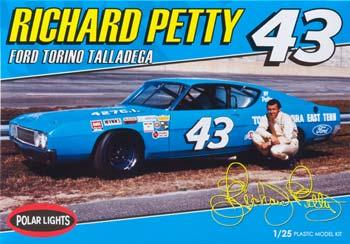Richard Petty 1/25 scale Ford Torino plastic model kit