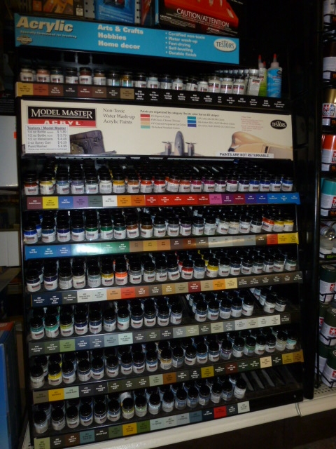 Automotive Paint Colors >> New and Reorganized Paint Racks | Dan's Crafts & Things