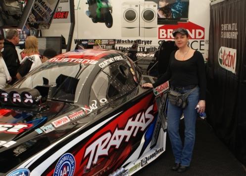 Brenda with Courtney Force's Traxxas Race Car