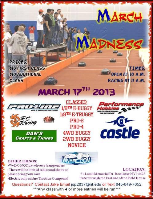 March 2013 race